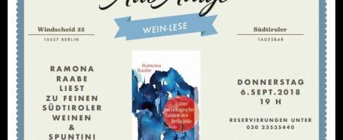 """""""WEIN-LESE"""" IM ALTO ADIGE BERLIN-WILMERSDORF"""