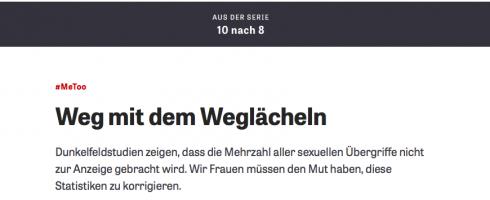 """10nach8: """"Weg mit dem Weglächeln"""" auf ZEIT Online"""
