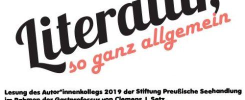 """""""Literatur, so ganz allgemein"""" – Abschlusslesung Autor*innenkolleg mit Clemens J. Setz"""